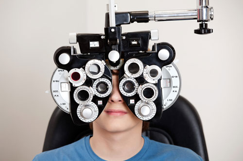 Eyetesting equipment at Chenango Vision Center Norwich NY